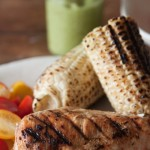 Grilled Chicken with Avocado Tomatillo Sauce