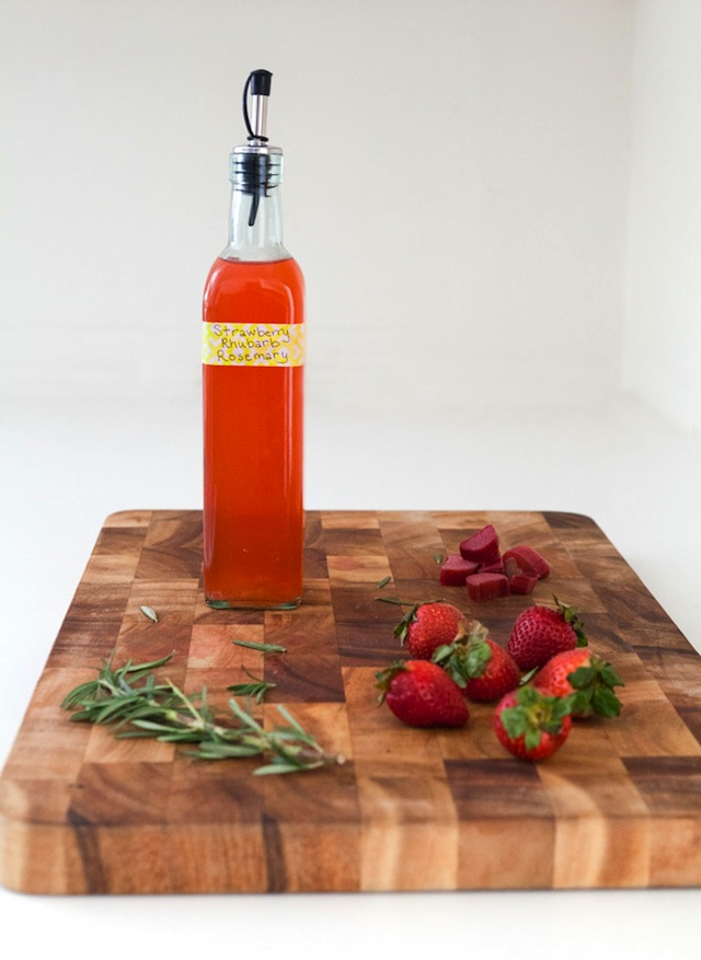 Strawberry-Rhubarb Simple Syrup :: The Effortless Chic 1