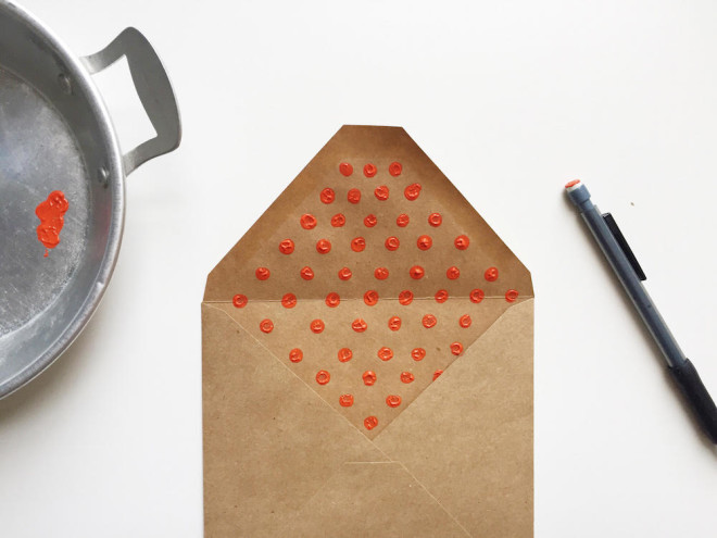 DIY envelope liners