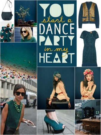 {Deep Teal} Color Palette