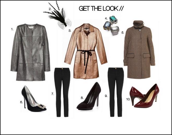 Collage of halloween fashion ideas