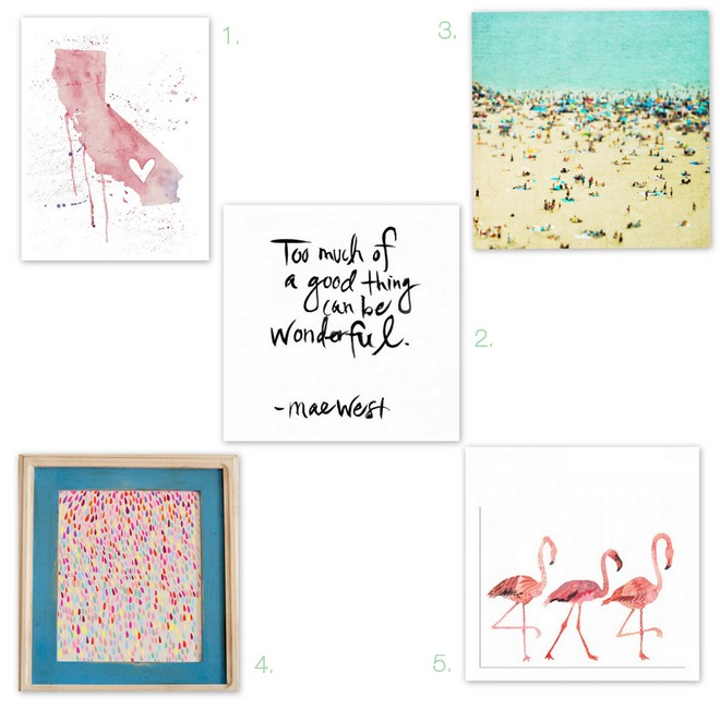 5 Under $25- Art Prints