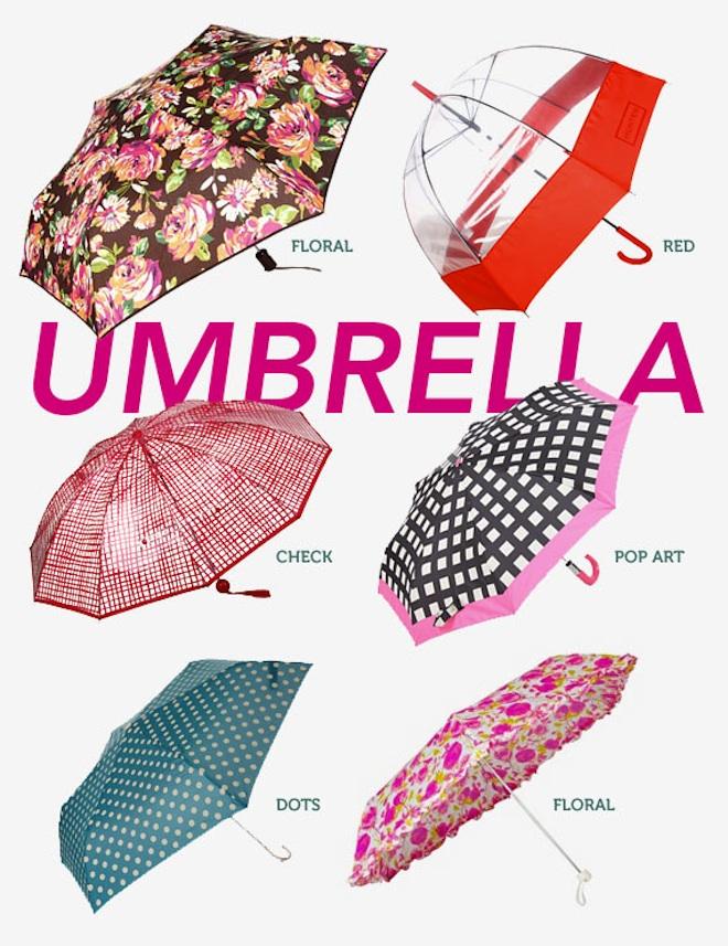 Stylish Rain Gear -Umbrellas