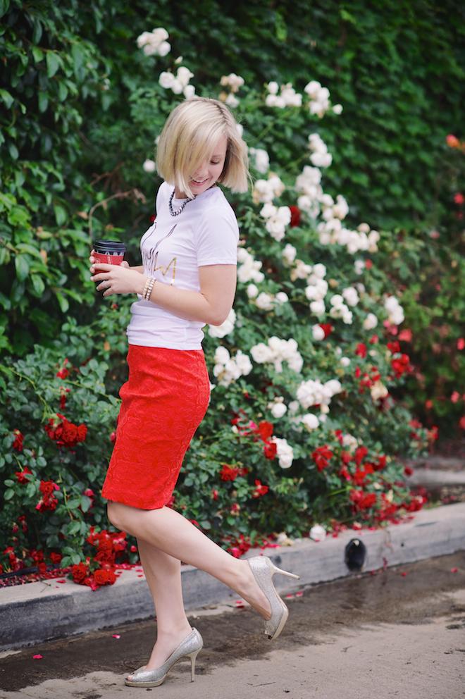 Jen Pinkston : Red Pencil SKirt 6