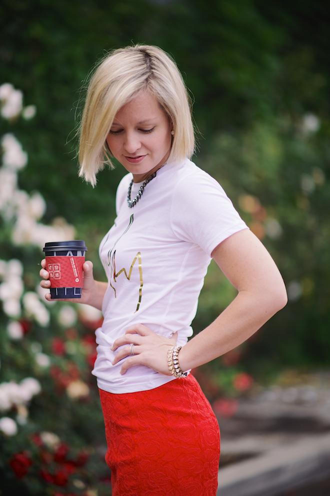 Jen Pinkston : Red Pencil Skirt 5