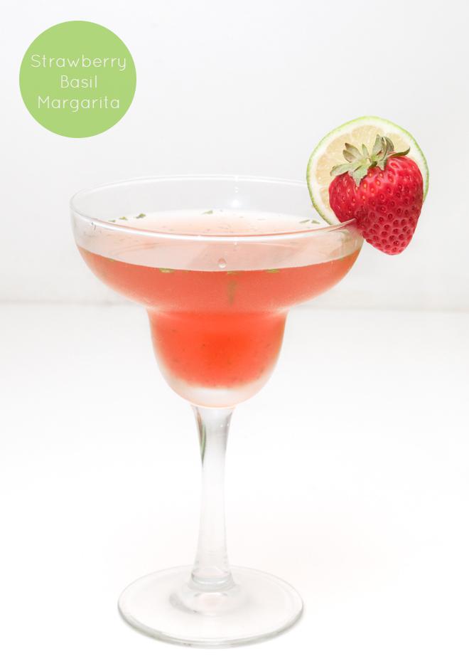 Strawberry Basil Margaritas 8