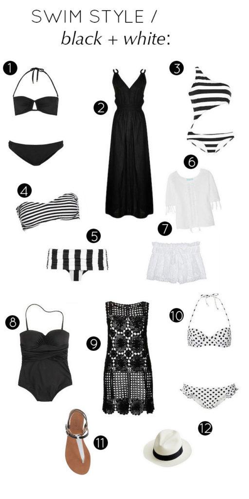 Swim Style : Black + White