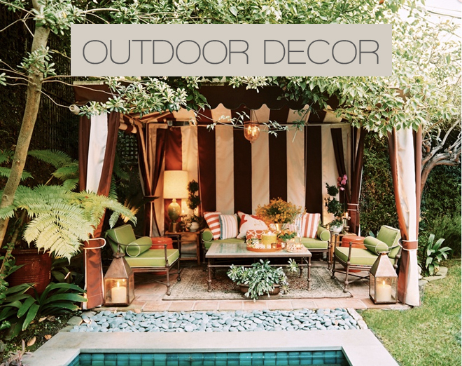 Outdoor decor photos home decoration club for Patio accessories ideas