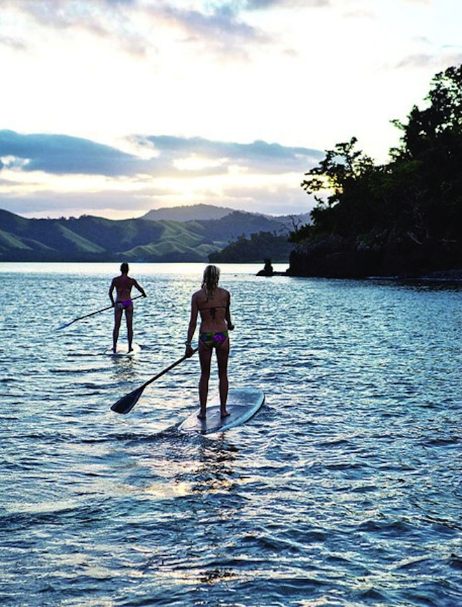 Paddle Surfing