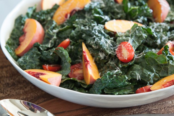 Nectarine-And-Kale-Salad
