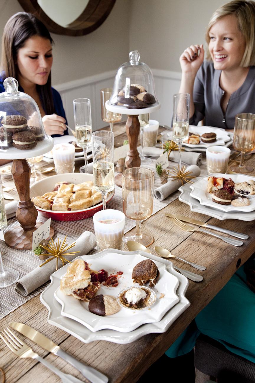 A dessert thanksgiving table