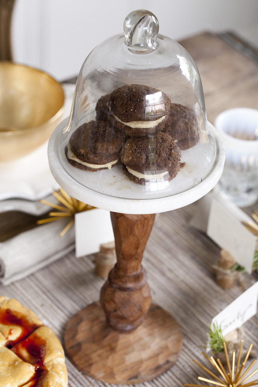 Cookies on a cake stand