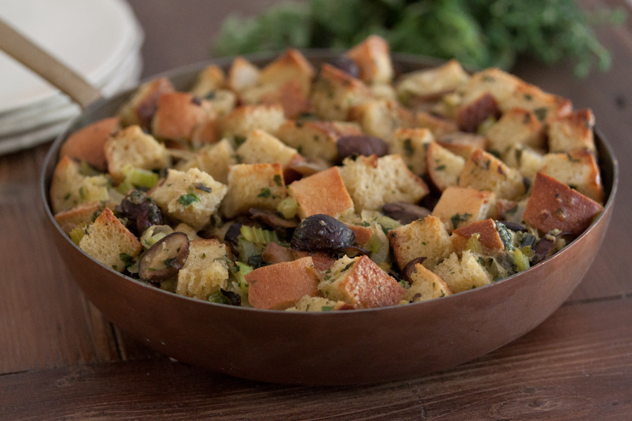 Stuffing in a skillet