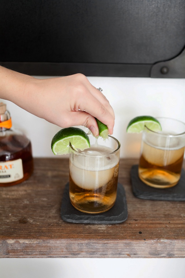 Dark 'N' Stormy Cocktail :: The Effortless Chic