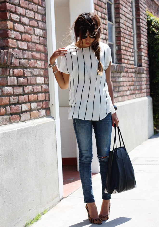 10 Ways To Wear A Tee :: The Effortless Chic