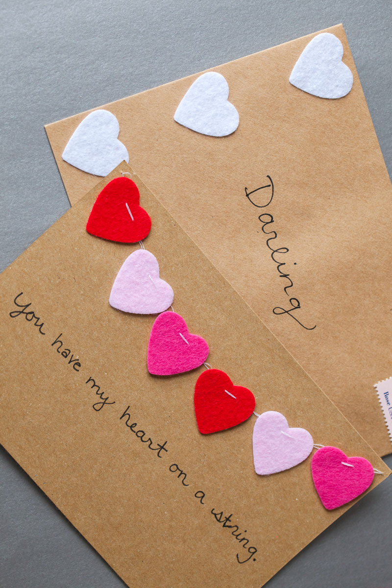 diy  valentine's day cards  the effortless chic