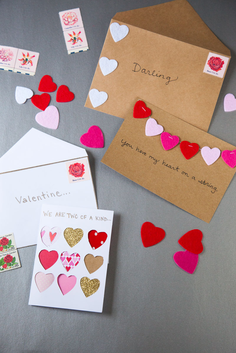 DIY Valentines Day Cards The Effortless Chic A lifestyle – Easy Homemade Valentines Cards