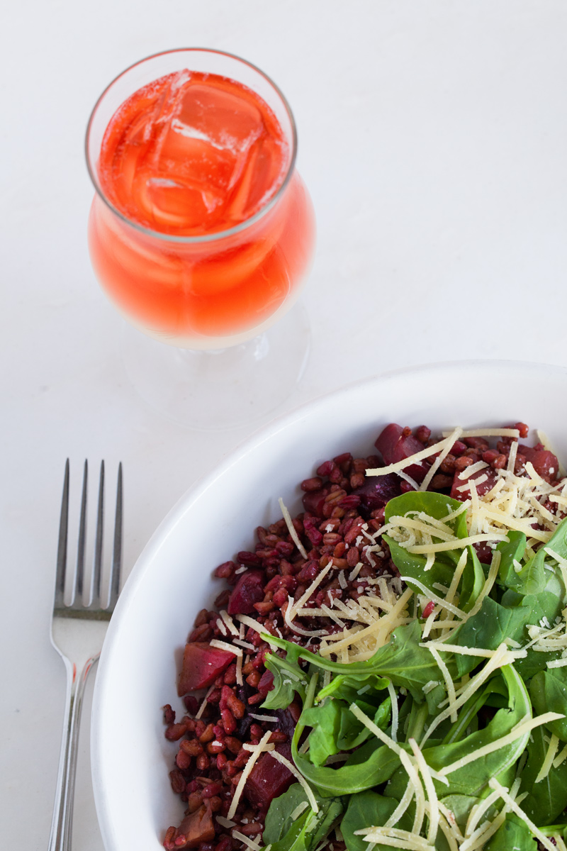 Roasted Beet Farro Salad :: The Effortless Chic 3