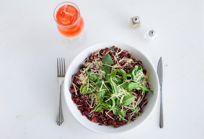 Roasted Beet Farro Salad :: The Effortless Chic 4