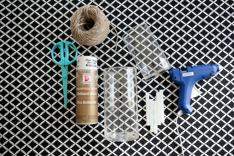 items needed for DIY candle holder