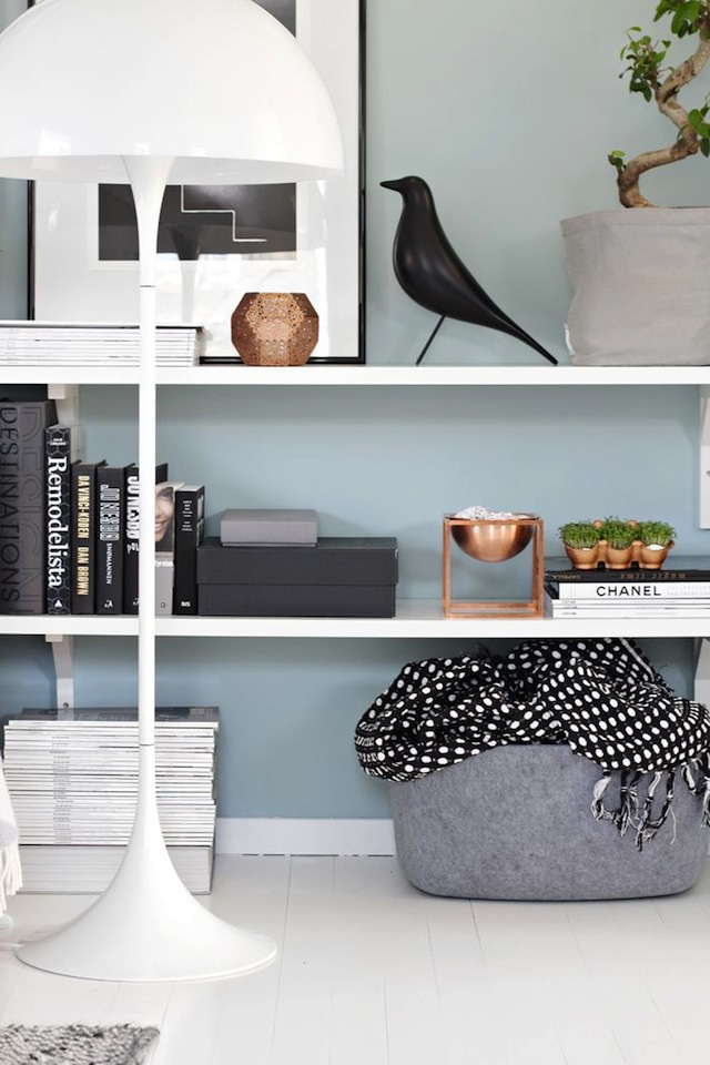 Awesome Vibrant Vignettes :: Copper Living Room