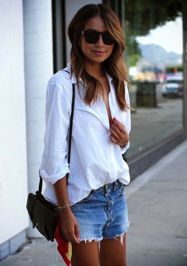 10 Ways To Wear A White Shirt The Effortless Chic
