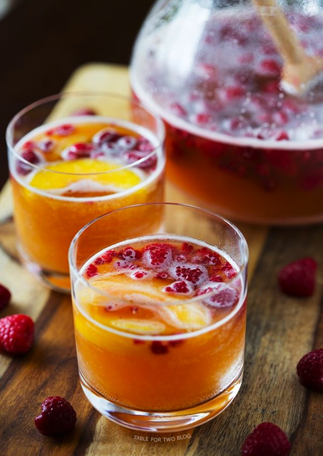 Raspberry-Peach-Prosecco-Punch