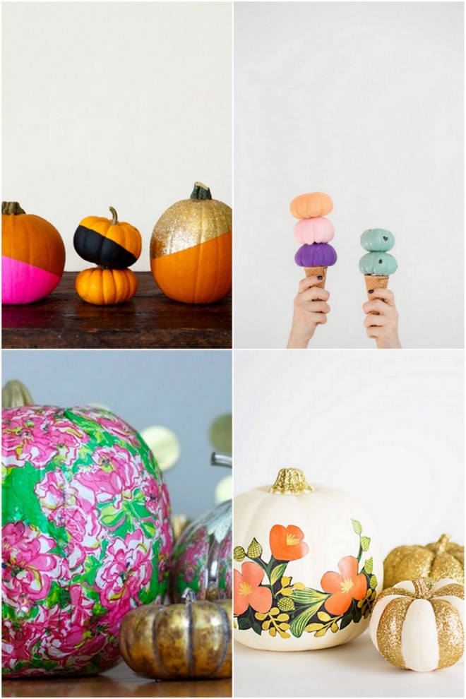 Colorful Pumpkin Decorating Ideas