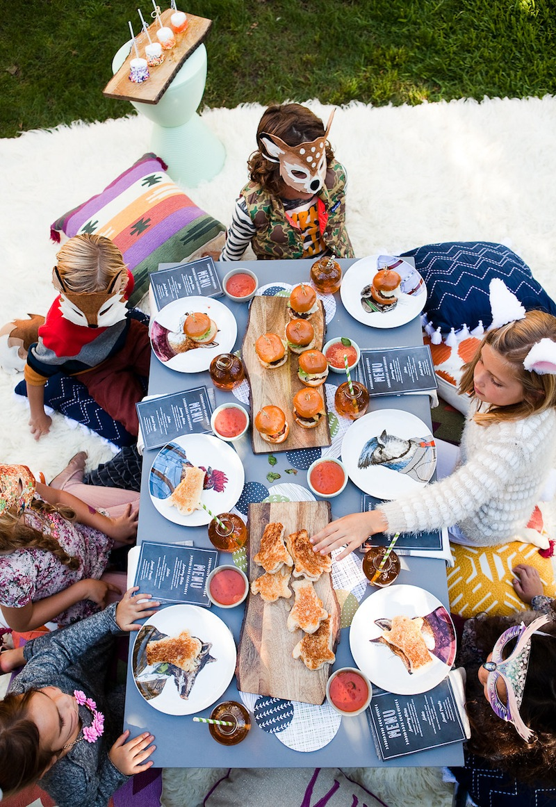 Top shot of a table at a Kids Halloween Party