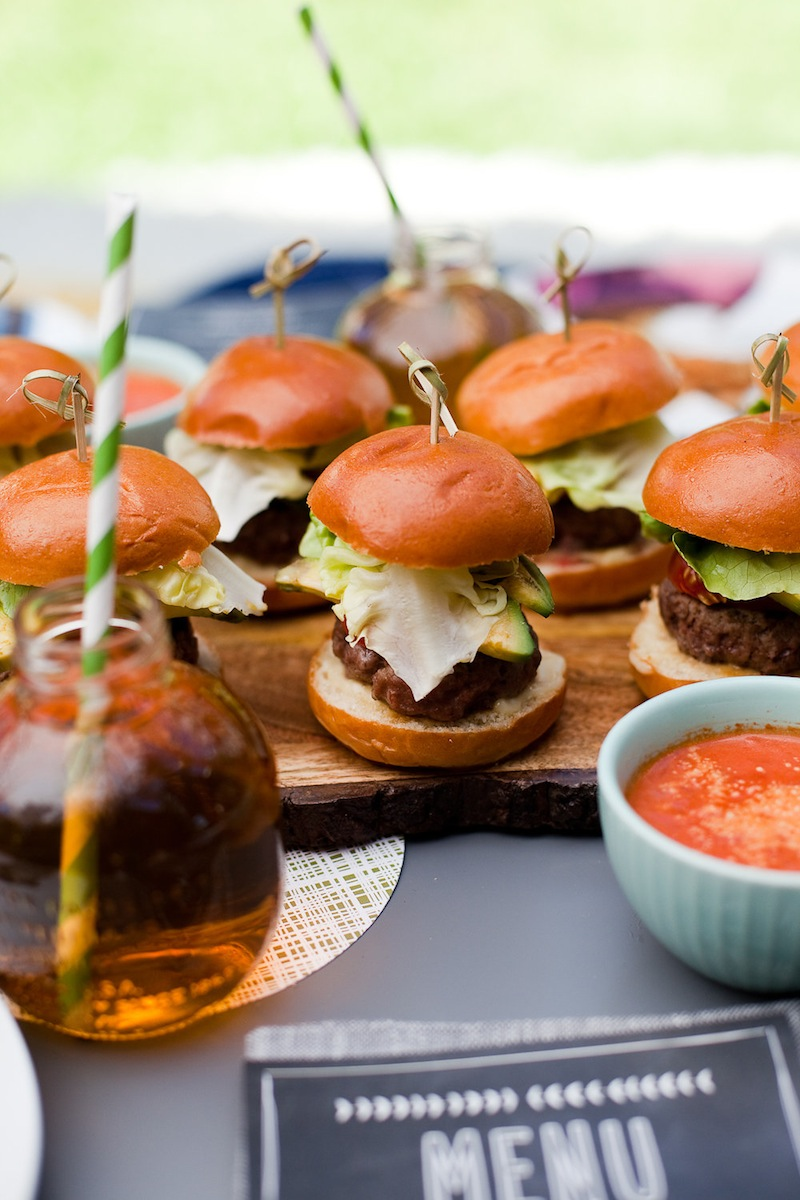 Sliders ready to eat