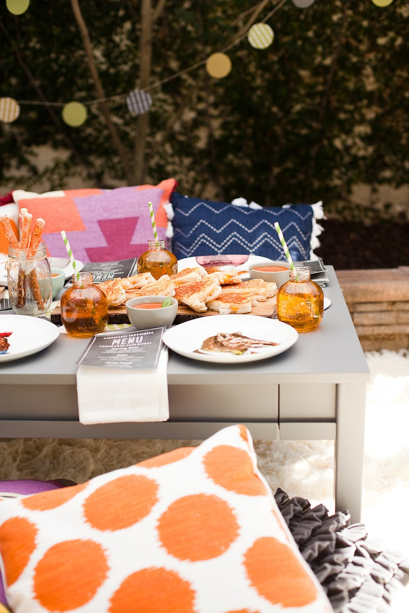 a backyard halloween bash with minted the effortless chic