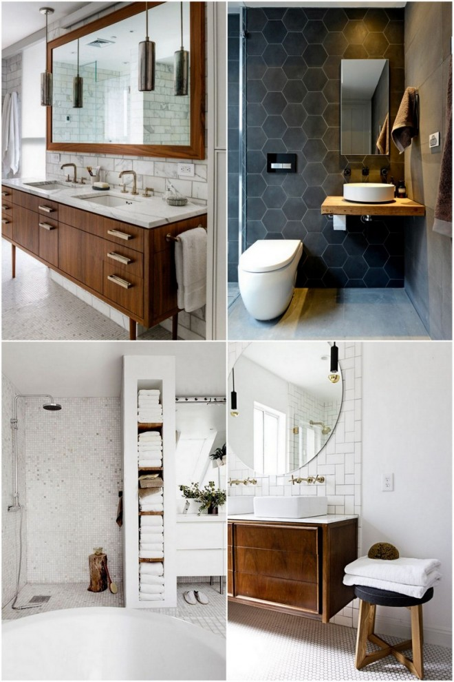 our la bathroom update the effortless chic. Black Bedroom Furniture Sets. Home Design Ideas