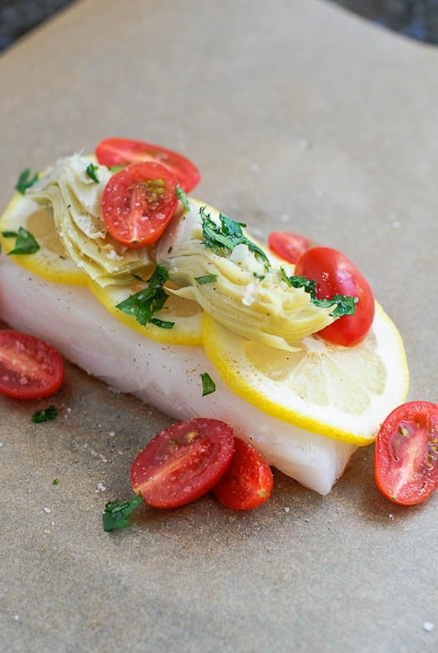 Halibut-with-Artichoke-and-Tomato-Kitchen-Confidante
