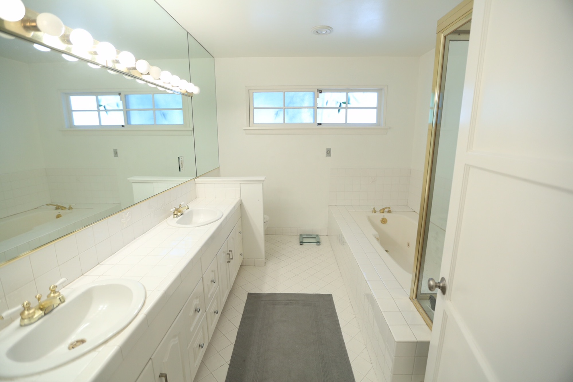 Master bathroom renovation before after the for Bathroom improvements