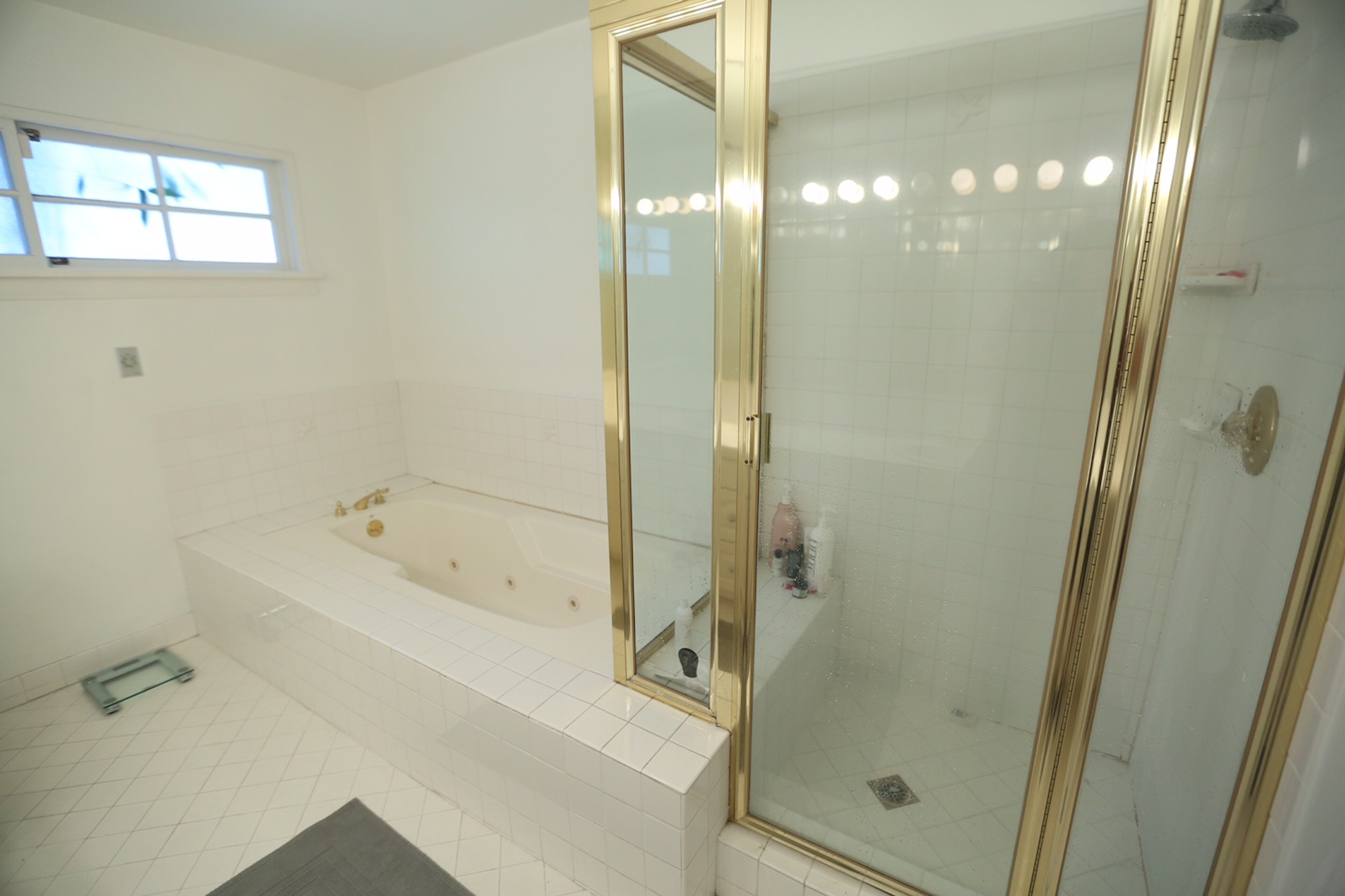 Master bathroom renovation before after the for Restroom renovations