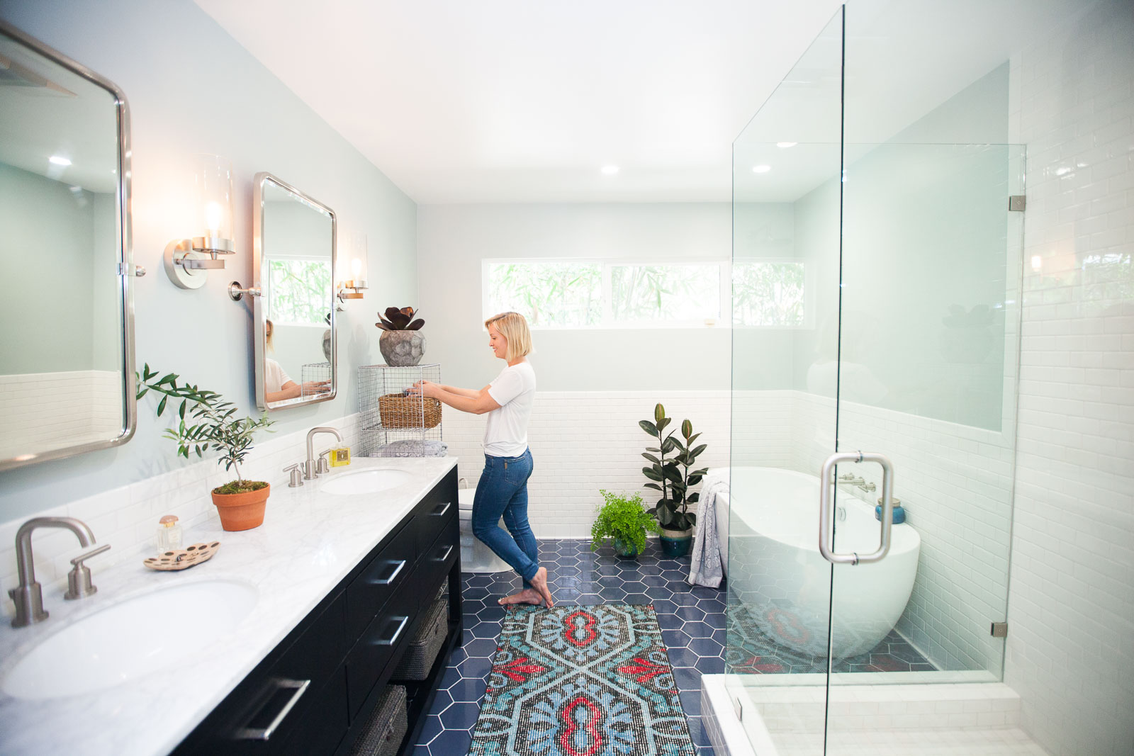 Fresh bathroom remodel modern