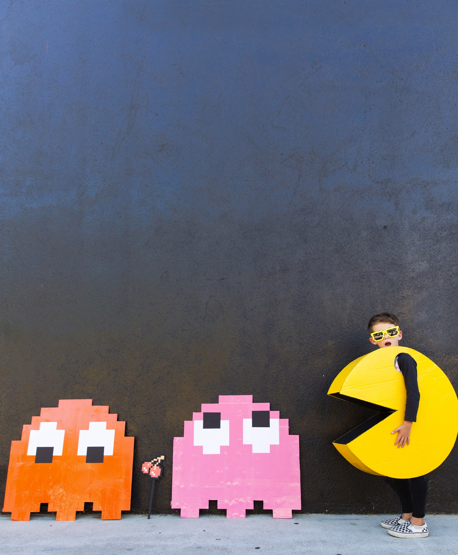 DIY // Kids PAC-MAN Halloween Costume - The Effortless Chic