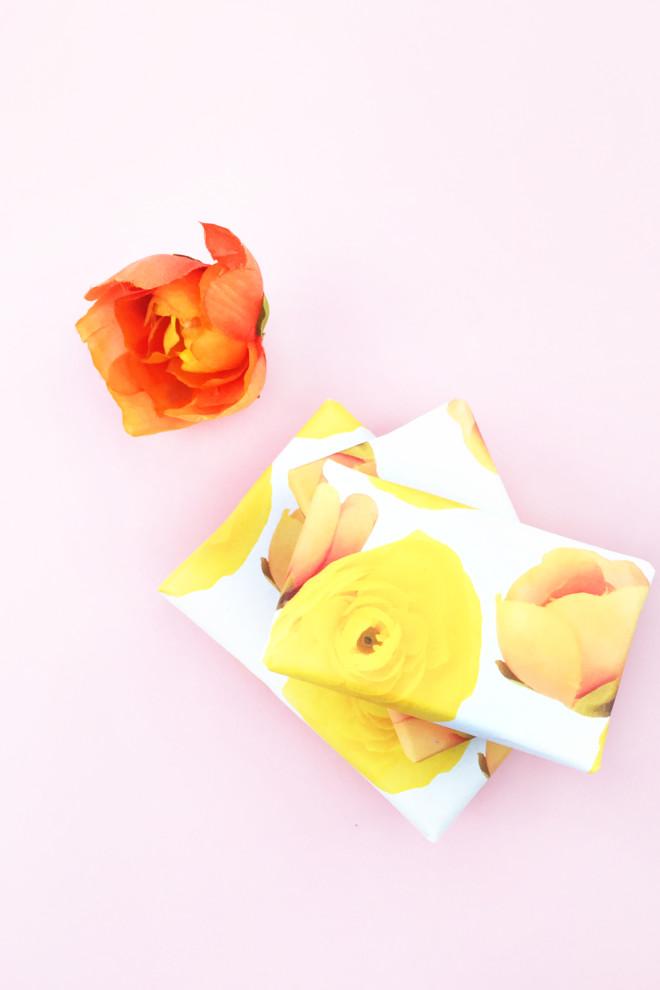 DIY-Floral-Gift-Wrap-5