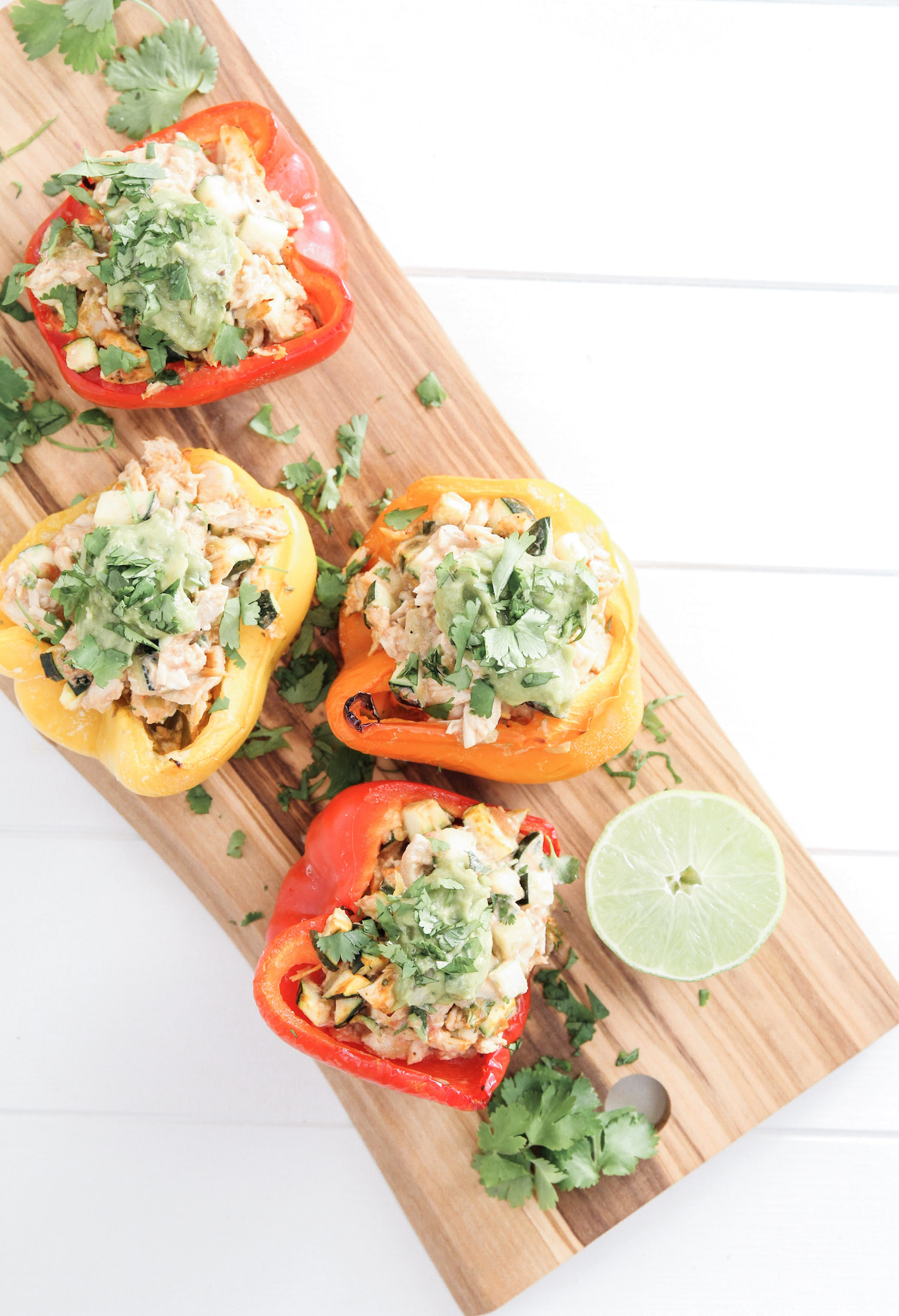 Goat Cheese and Chicken Stuffed Peppers 2