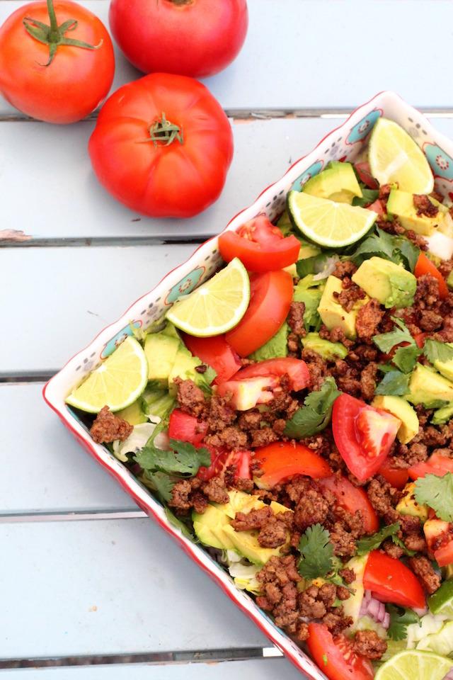 A whole30 taco salad