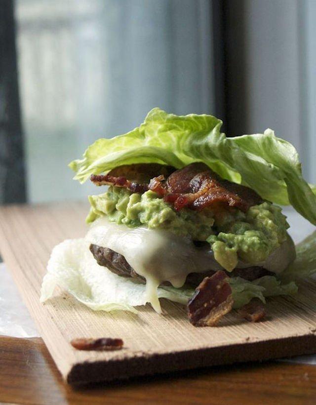 A bunless burger