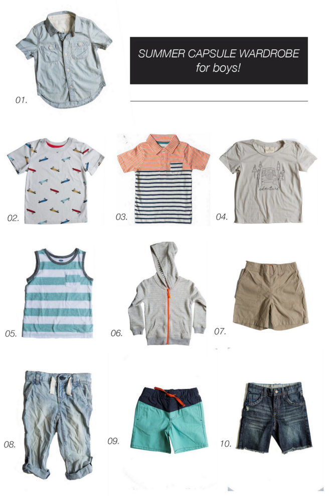 Summer Capsule Wardrobe Toddler Boys The Effortless Chic