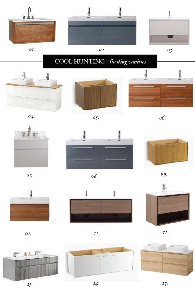 Cool Hunter Bathrooms cool hunting || floating bathroom vanities - the effortless chic