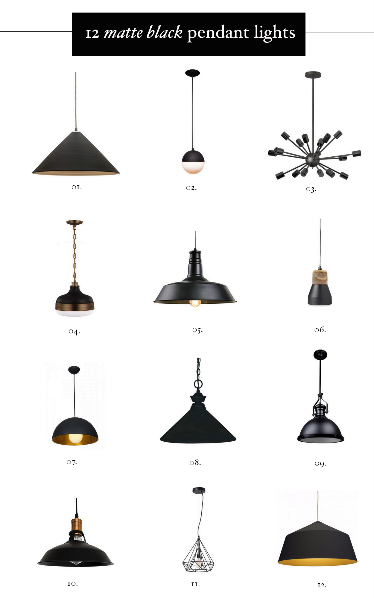 matte-black-pendant-lights