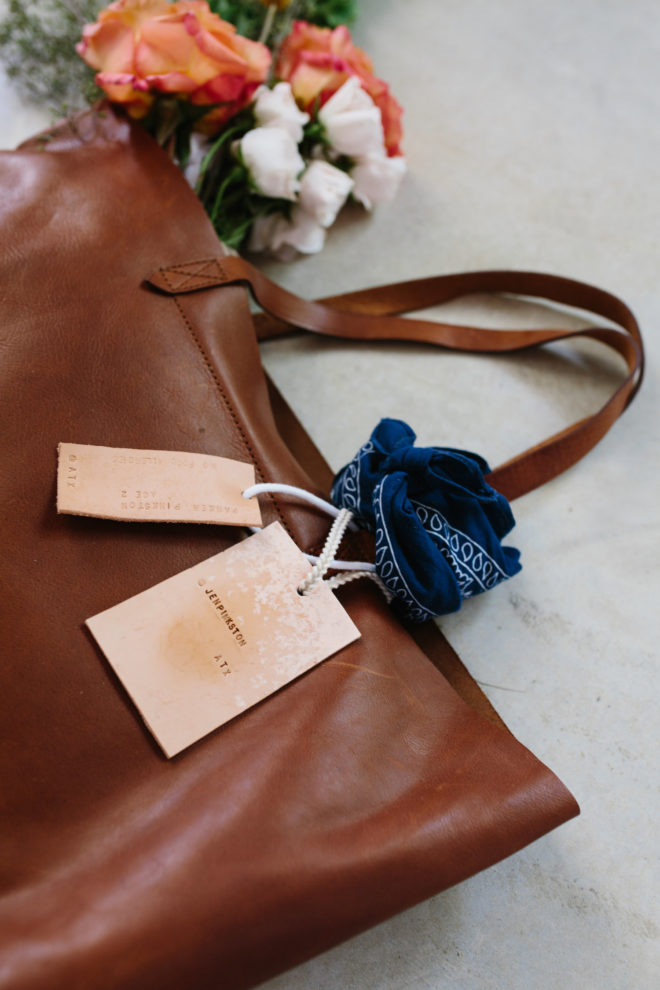 DIY || Leather Luggage Tag - The Effortless Chic