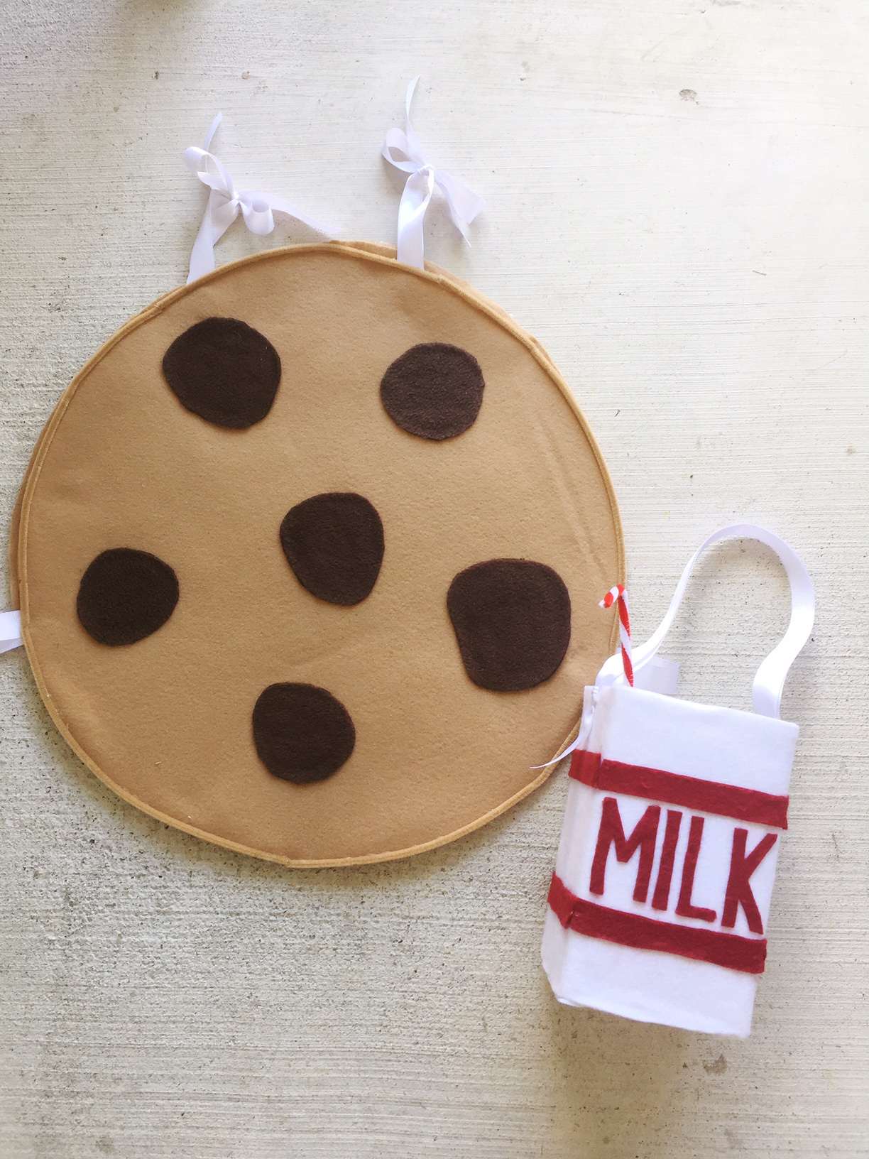 The finished Chocolate Chip Cookie Costume