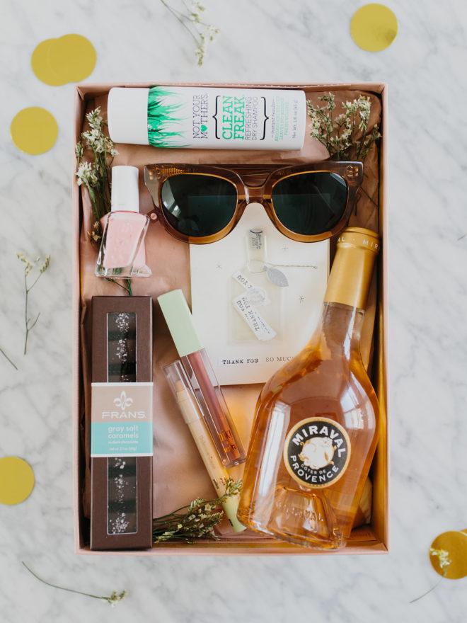 bachelorette gift box diy the effortless chic