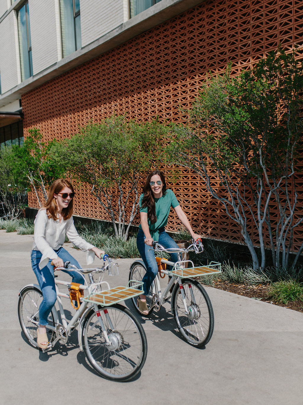 Girls on bikes on a weekend in austin