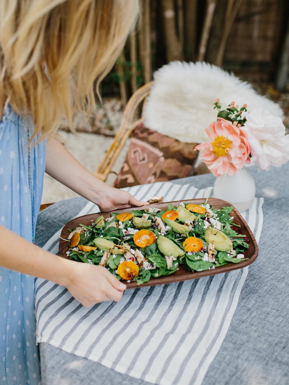 jen with salad