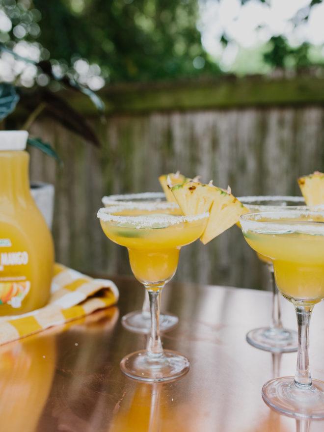 4 Ingredient Pineapple Mango Margaritas Mocktails